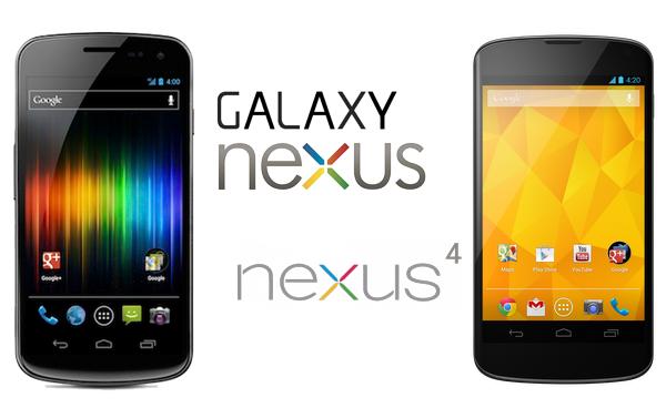 Galaxy Nexus & Nexus 4