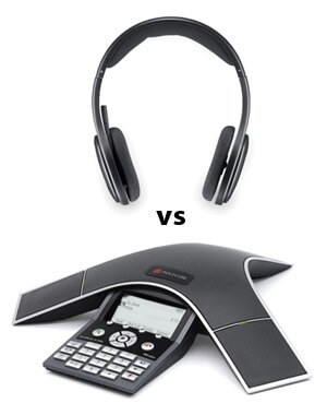 Headset vs Conference Phone