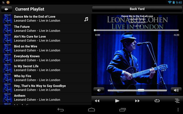 Logitech Squeezebox Remote On Nexus7