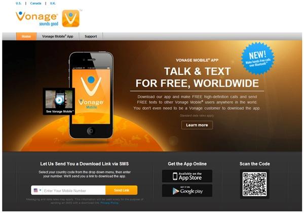 download vonage app